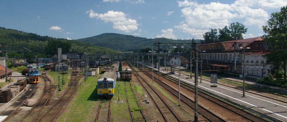 Dworzec w Suchej Beskidzkiej