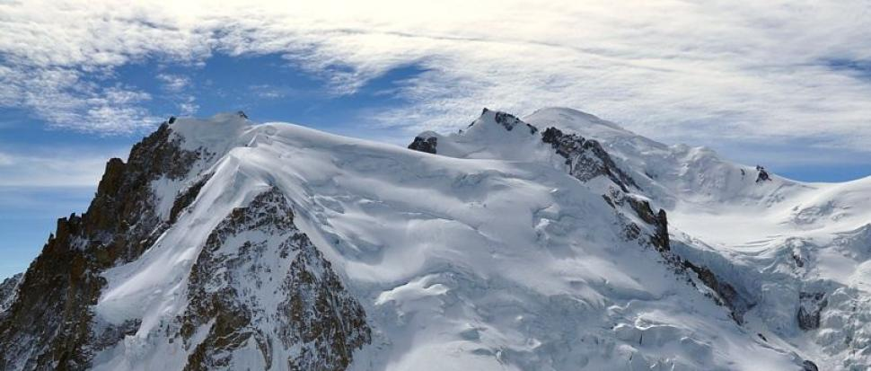 Widok na Mont Blanc z Aiguille du Midi