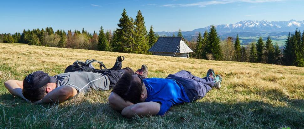 Odpoczynek z widokiem na Tatry